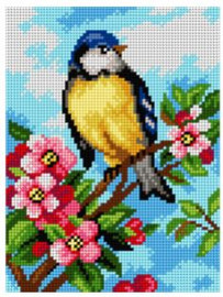 Printed Embroidery Kit: Blue Tits by Orchidea