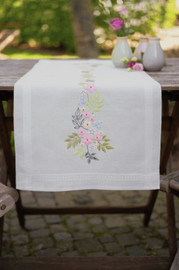 Flowers & Leaves Runner Embroidery Kit by Vervaco