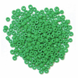 Seed Beads Green 8g by Trimits