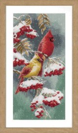 Scarlet & Snow-Cardinals Counted Cross Stitch Kit by Vervaco