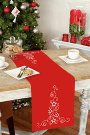 Stars & Swirls Runner Embroidery Kit by Vervaco