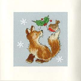 Christmas Card – Christmas Friends Cross Stitch Card Kit by Bothy Threads