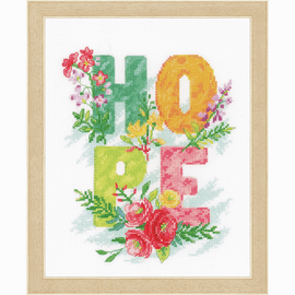 Hope Counted Cross Stitch Kit by Vervaco