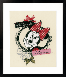 Disney It's About Minnie in a Frame Counted Cross Stitch Kit by Vervaco
