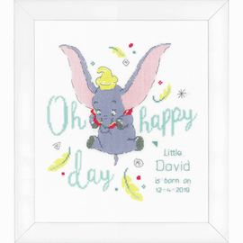 Disney Oh Happy Day Counted Cross Stitch Kit by Vervaco