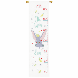 Disney Dumbo Oh Happy Day Counted Cross Stitch Height Chart Kit by Vervaco