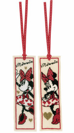 Set of 2 It's All About Minnie Disney Bookmarks Counted Cross Stitch Kit by Vervaco