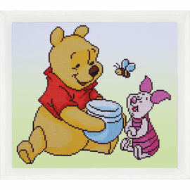 Pooh with Piglet Diamond Painting Kit By Vervaco