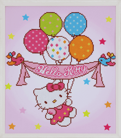Hello Kitty: with Balloons Diamond Painting Kit by Vervaco