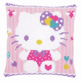Hello Kitty Pastel Cross Stitch Cushion Kit by Vervaco