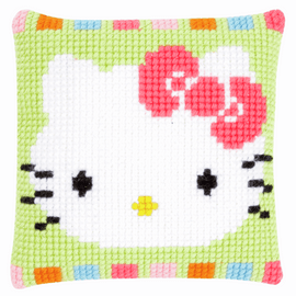Hello Kitty in Pastel Cross Stitch Cushion Kit by Vervaco