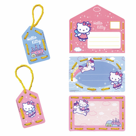 Hello Kitty: Rainbow  Set of 5 Embroidery Kit: Invite Cards by Vervaco