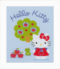 Hello Kitty & Apple Tree Counted Cross Stitch Kit by Vervaco