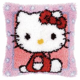 Hello Kitty Latch Hook Cushion Kit by Vervaco