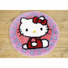 Hello Kitty Latch Hook Rug Kit by Vervaco