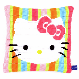 Hello Kitty Striped Long Stitch Cushion Kit by Vervaco