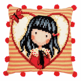 Gorjuss Time to Fly Cross Stitch Cushion Kit by Vervaco