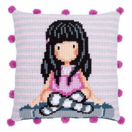Gorjuss  the Words Cross Stitch Cushion Kit by Vervaco