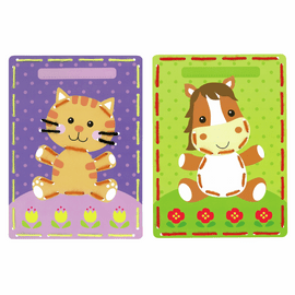 Cat & Pony Cards Embroidery Kit Set of 2 by Vervaco
