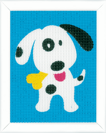 Cute Dog Tapestry Kit by Vervaco