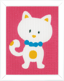 Cute Cat Tapestry Kit by Vervaco