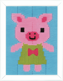 Pig Long Stitch Kit by Vervaco