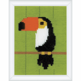 Toucan Long Stitch Kit by Vervaco