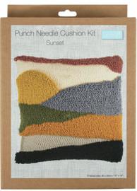 Sunset Cushion Punch Needle Kit by Trimits