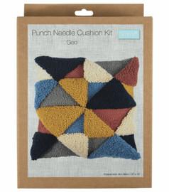 Geo Cushion Punch Needle Kit by Trimits