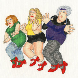 Dancing Class Cross Stitch Kit by Bothy Threads