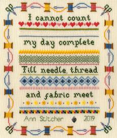Stitching Sampler Cross Stitch Kit by Bothy Threads
