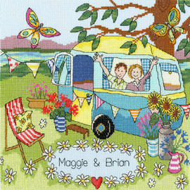 Our Caravan Cross Stitch Kit by Bothy Threads