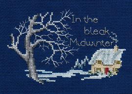 Midwinter Christmas Card Cross Stitch Kit by Derwentwater