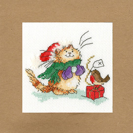 Just For You Christmas Card Cross Stitch Kit by Bothy Threads