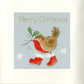 Step Into Christmas Christmas Card Cross Stitch Kit by Bothy Threads