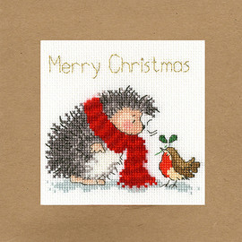 Christmas Wishes Christmas Card Cross Stitch Kit by Bothy Threads