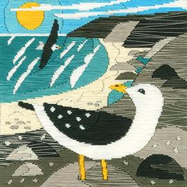 Seagulls Silken Scenes Long Stitch Kit by Bothy Threads