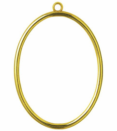 Gold Oval Plastic Frame by Vervaco