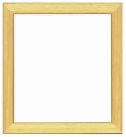 Natural Wooden Frame 21 x 23cm by Vervaco