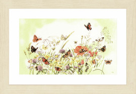 Flowers Counted Cross Stitch Kit by Lanarte