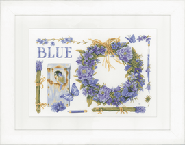 Lavender Wreath (Evenweave) Counted Cross Stitch Kit by Lanarte