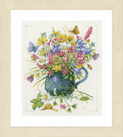 Vase of flowers Counted Cross Stitch Kit  by Lanarte