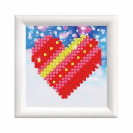 Patchwork Heart with Frame Diamond Painting Kit by Diamond Dotz