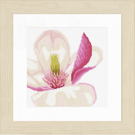 Magnolia Flower (Evenweave)Counted Cross Stitch Kit by Lanarte