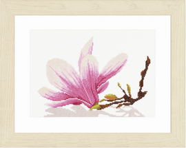 Magnolia Twig (Evenweave) Counted Cross Stitch Kit by Lanarte