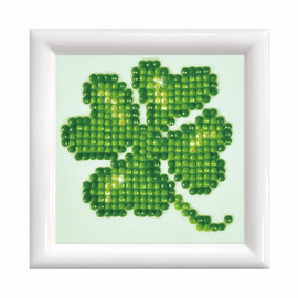 Lucky Leaves with Frame Diamond Painting Kit by Diamond Dotz