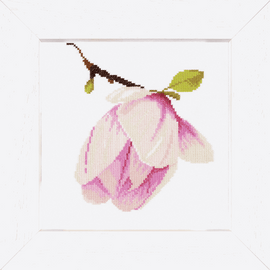 Magnolia Bud Counted Cross Stitch Kit by Lanarte