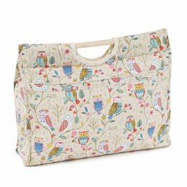 Twit Twoo Craft Bag with Wooden Handles by Hobby Gift