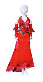 Couture Outfit Making Set: Mary Red Roses by Vervaco