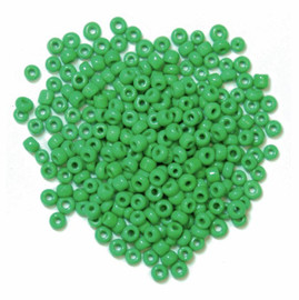 Seed Beads Green 15g by Trimits